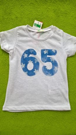 NOWE BENETTON GRATIS WYSYŁKA bluzka nowa , t-shirt , 68 cm , 6-9 m-cy