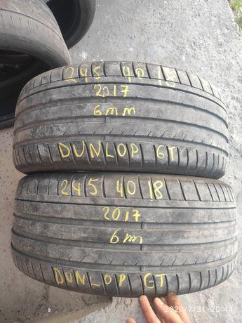 Шини літні 245 40 18 dunlop sportmaxx GT, 6mm, 2017