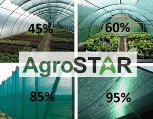 Затеняющая сетка AgroStar 45%,60%,85%,95%