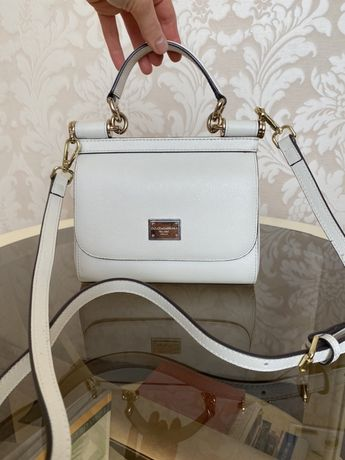 Сумочка Dolce&Gabbana, сумка из натуральной кожи дольче габана