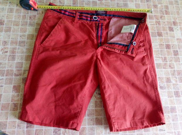 Мужские шорты размер 48 джинс терракотового цвета
