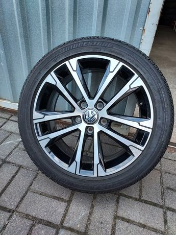 Fabryczne Koła VW GOLF GTI R-line 225/45R17 Bridgestone 9mm Jak Nowe