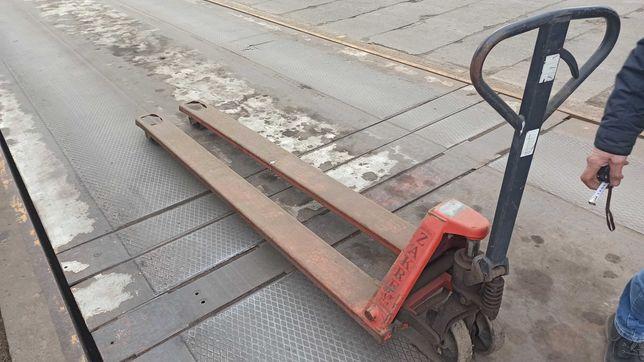 Wózek paletowy długi - paleciak 2.3 m dł. wideł Białystok