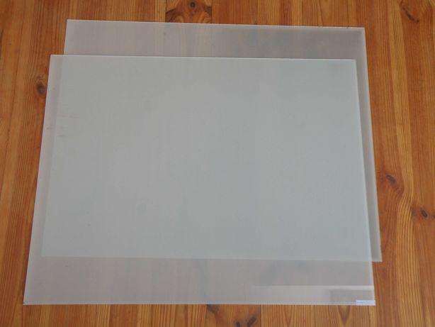 Szyby szkło matowe mleczne, 60,5x77cm para