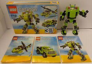 Lego Лего creator 3 in 1, 3 в 1 31007 мощный робот конструктор