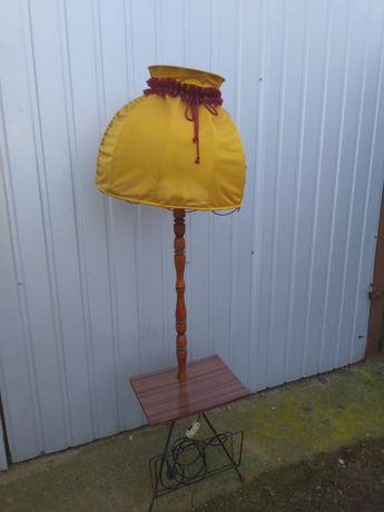 Lampa z abażurem prl