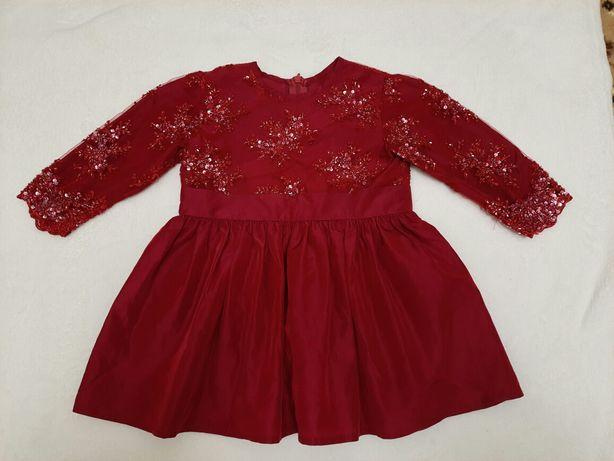 Платье,плаття красивенное 1-2года.
