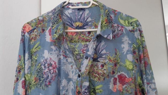 Cecil- markowa koszula-tunika w kwiaty r .XXL, 100% bawełna- batyst