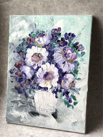 Картина маслом Прованс цветы 30х40см