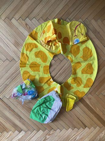 Надувний круг жираф і 2-а мяча