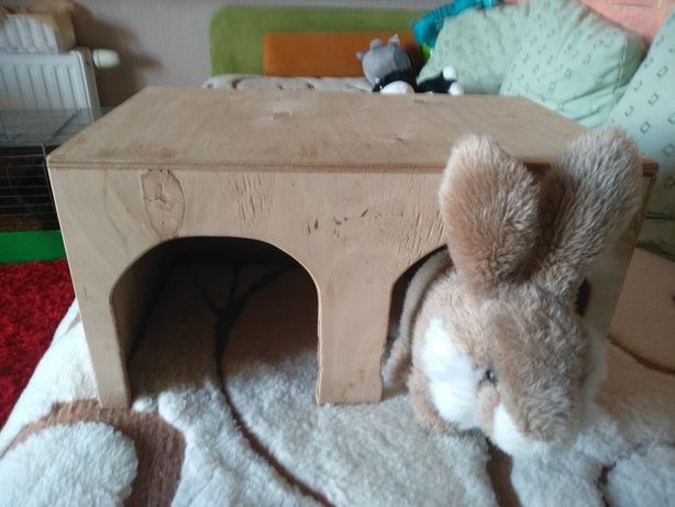 Domek dla królików sklejka