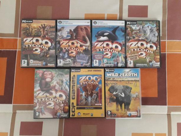 Jogos PC Zoo Tycoon 1 e 2 (Edição Completa) e Wild Afrika