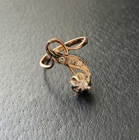 Золотое кольцо с бриллиантами 0,26кар. СССР