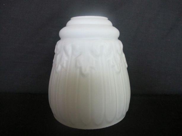 Szklane klosze kuchenne mlecznobiałe z czasów PRL- u_E 27