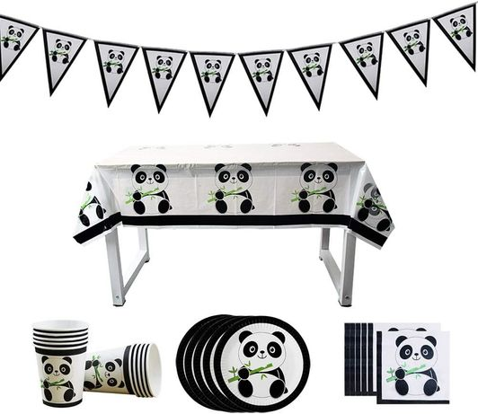 Conjunto decorativo do Panda - Ideal para Festas!