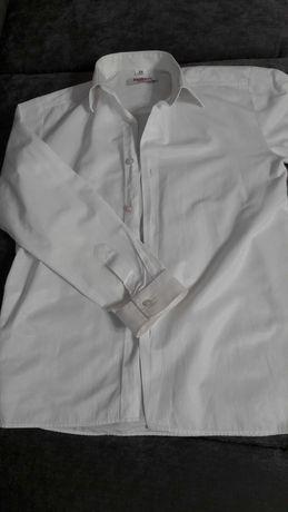 Biała koszula w rom. 152