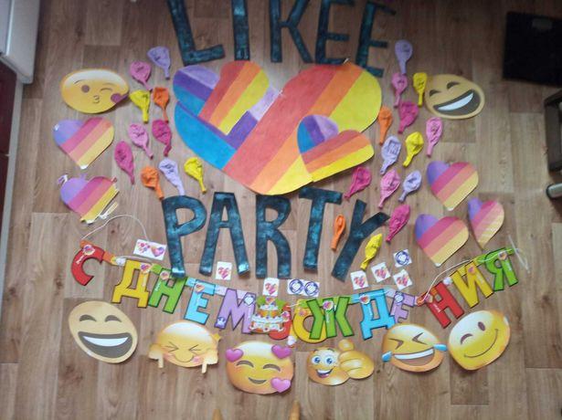 Декор на день рождения в стиле лайк