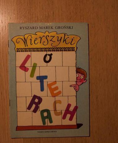 Wierszyki o literkach inne książki dla dzieci, po 3 zł,