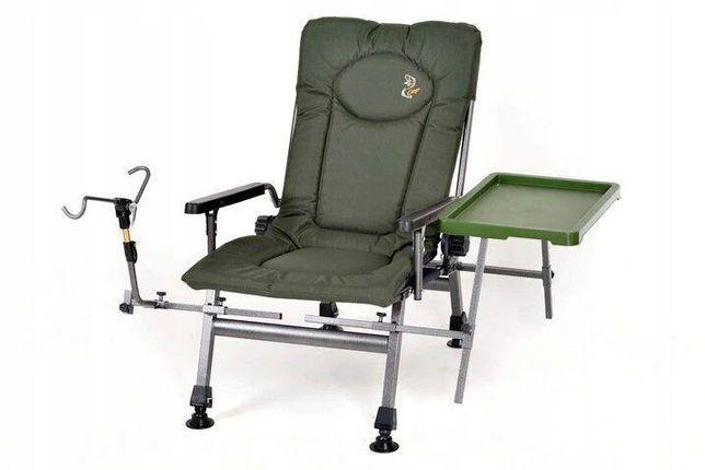 Кресло для рыбалки карповое со столиком и держателем удочки