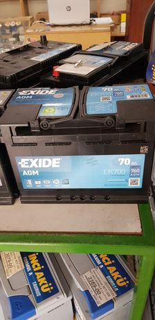 70 а/г Автомобільний AGM акумулятор АКБ для авто Exide  (гель)