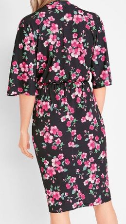 Nowa sukienka w wersji kimonowej 3/4 rozmiar 44/46