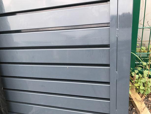 Brama dwuskrzydłowa ocynk+ mal wypelniona profilem 80x20-PRODUCENT