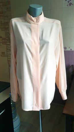 Шелковая итальянская блуза рубашка нежная