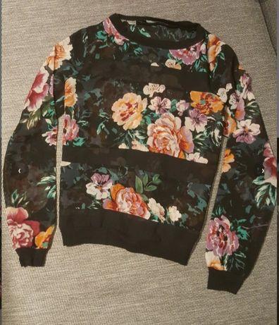 Bluzka w kwiaty S