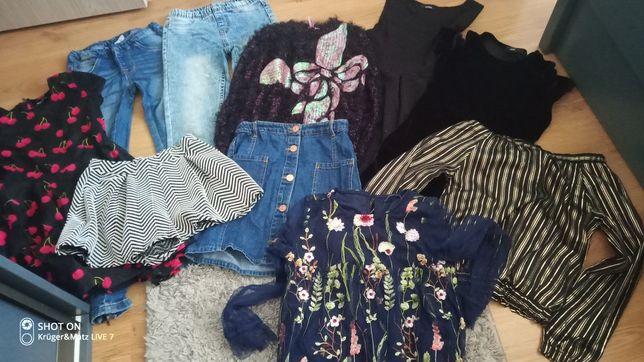 Zestaw ubrań dla dziewczynki na 134