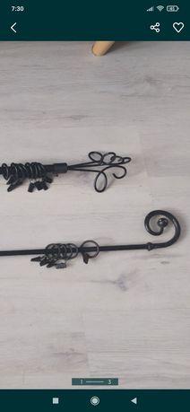 Czarne karnisze metalowe 90 i 109cm