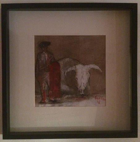 Obra original do pintor Espanhol Gonzho - Víctimas del Miedo