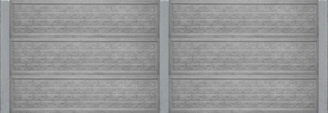 Ogrodzenie betonowe, komplet, trzy płyty + słupek