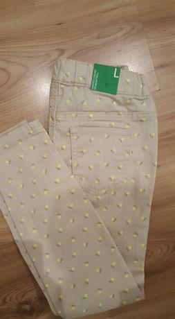 United Colors of Bentton-sliczne skinny spodnie nowe