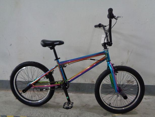 """Велосипед трюковий BMX 20"""" Crosser RAINBOW градієнт різнокольоровий БМ"""