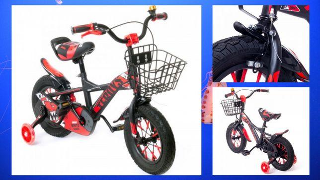 Дитячий велосипед Teroys TZ-007 з кошиком і допоміжними колесами