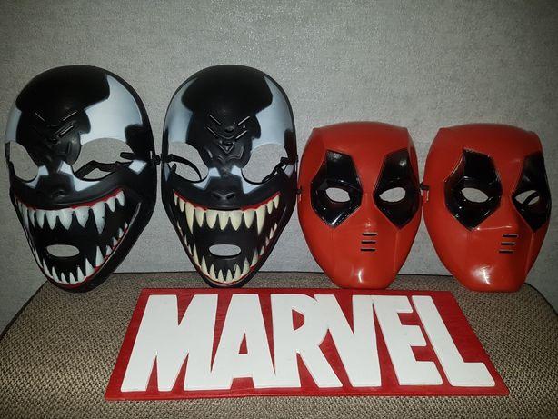 Маска Супергероя Марвел/Marvel/: Дедпул, Веном. Размер универсальный.