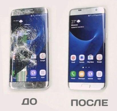 ГАРАНТИЯ Замена стекла сенсора экрана Iphone 5 6 6s 7 8 X edge Samsung