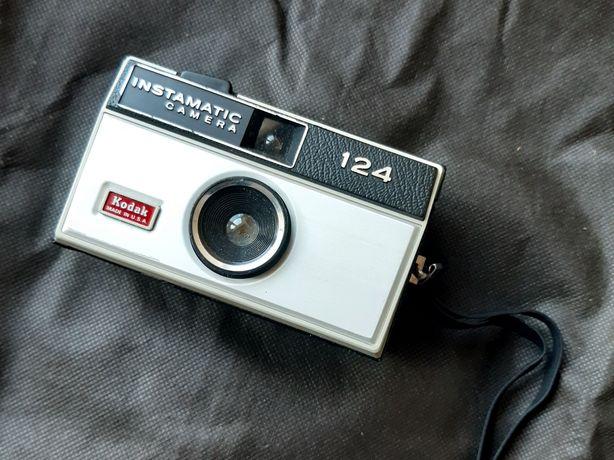 Aparat Kodak Instamatic 124, made in USA, klisze