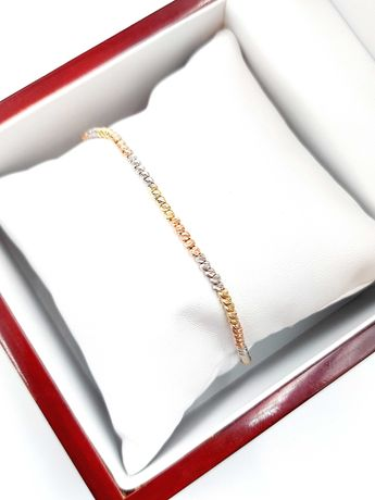 Złota bransoletka Pr. 585 Waga: 4,99 G Plus Lombard