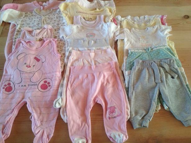 Ubranka niemowlęce dla dziewczynki r 62/68 - 16 szt.