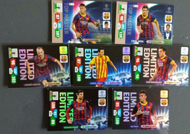 Karty Panini Champions league 2013-14 FC Barcelona