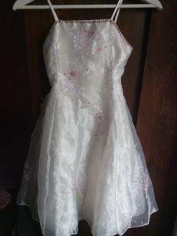 sukienka z cekinami 7-8 lat