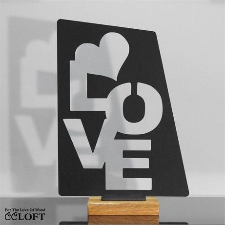 Figurka dekoracyjna metalowa love walentynki prezent