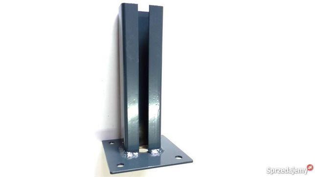 Stopa podstawa przykręcana słupek siatki panele bramy Euromet