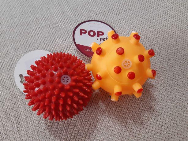 Piłki gumowe, piszczące dla piesków nowe 2 sztuki 7cm