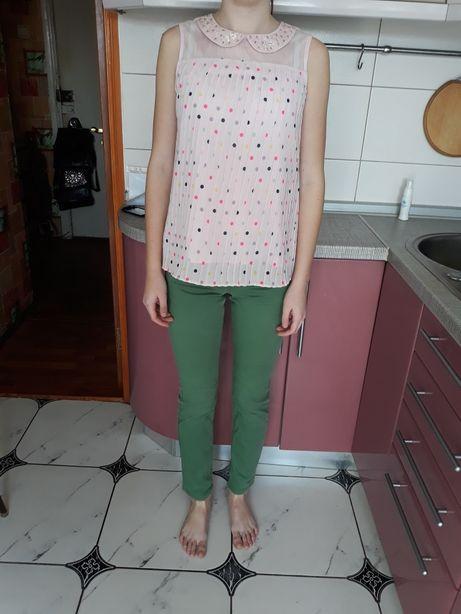 Одежда подростковая, комплект джинсы и блуза рост 156