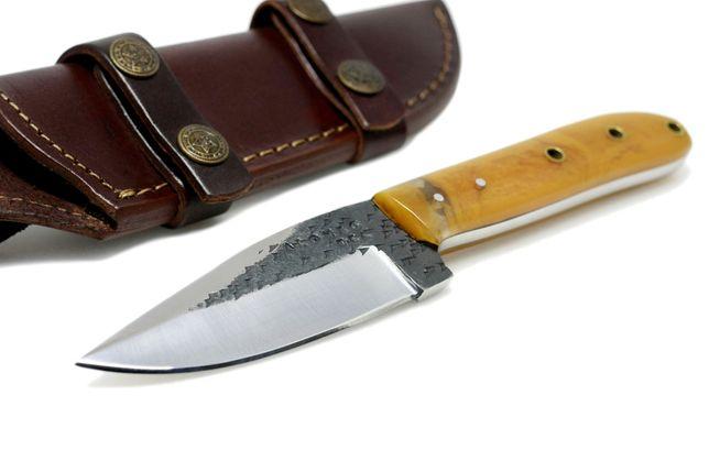 Nóż myśliwskiI BUSHCRAFT SURVIVAL STAL 1095 + skórzane ETUI