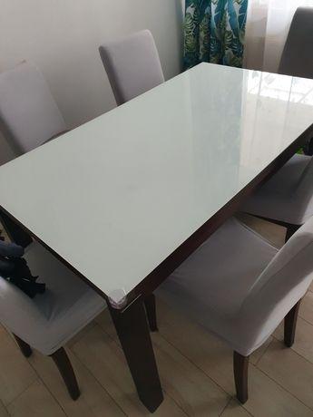 Szyba biała na stol 140x80