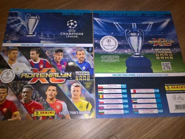 Indeks kart klaser Panini UEFA Champions League 2014/2015 Adrenalyn