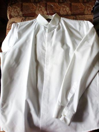 Продам белую рубашку б/у